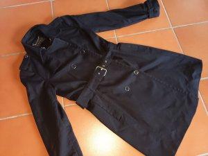 Esprit Kollektion wunderschöner Trenchcoat Neupreis 99.95 schwarz übergangsjacke Mantel XS 34 Herbst Trench