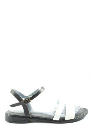 Esprit Komfort-Sandalen weiß-schwarz Casual-Look