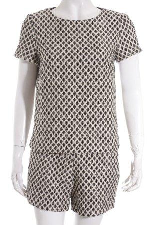 Esprit Kostüm creme-schwarz grafisches Muster Street-Fashion-Look
