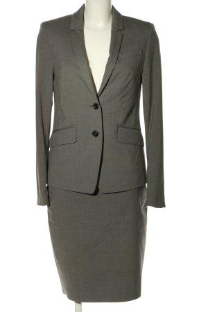 Esprit Kostium czarny-jasnoszary Siateczkowy wzór W stylu biznesowym