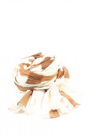 Esprit Crinkle Scarf brown-natural white striped pattern casual look