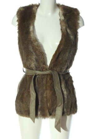Esprit Kamizelka ze sztucznym futrem brązowy W stylu casual
