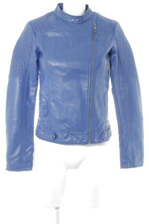 Esprit Kurtka z imitacji skóry niebieski W stylu casual