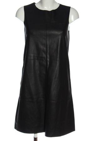 Esprit Kunstlederkleid schwarz Casual-Look