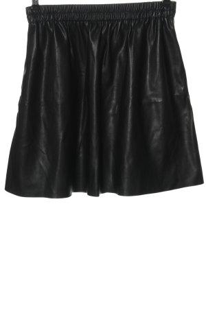 Esprit Kunstlederrock schwarz Casual-Look