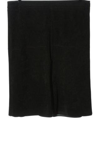 Esprit Spódnica z imitacji skóry czarny W stylu casual