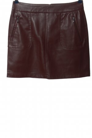 Esprit Faux Leather Skirt brown business style