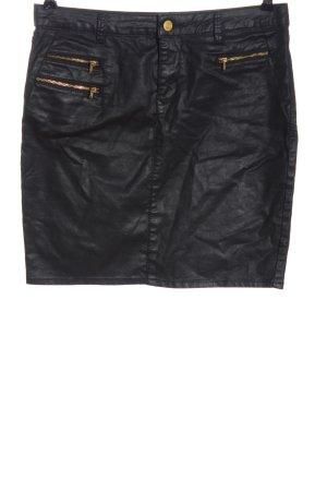 Esprit Spódnica z imitacji skóry czarny Elegancki