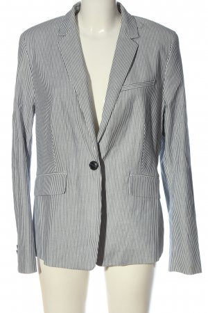 Esprit Kurz-Blazer hellgrau-weiß Allover-Druck Business-Look