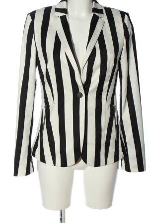 Esprit Klassischer Blazer schwarz-weiß Streifenmuster Casual-Look