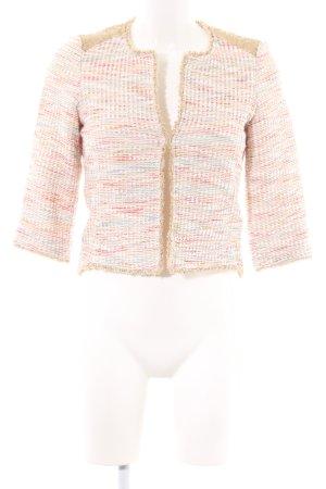 Esprit Kurz-Blazer creme-pink meliert Business-Look