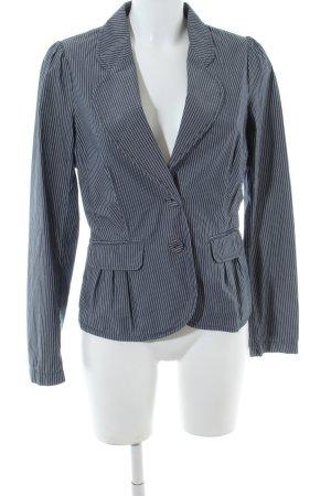 Esprit Kurz-Blazer blau-weiß Streifenmuster Business-Look
