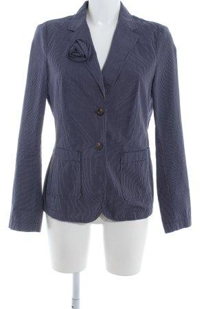 Esprit Korte blazer donkerblauw-wit zakelijke stijl