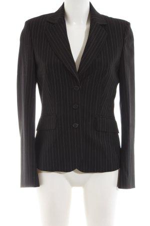 Esprit Kurz-Blazer schwarz-weiß Streifenmuster Business-Look