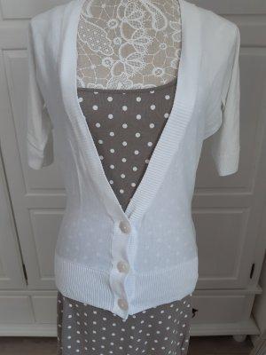 Esprit Short Sleeve Knitted Jacket white