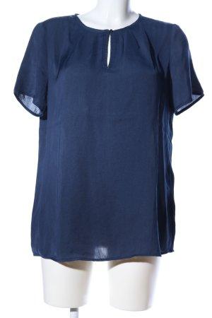 Esprit Kurzarm-Bluse blau Business-Look