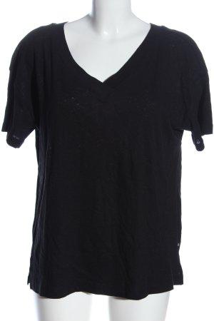 Esprit V-Ausschnitt-Shirt schwarz Casual-Look