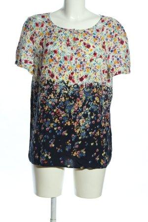 Esprit Kurzarm-Bluse Allover-Druck Casual-Look