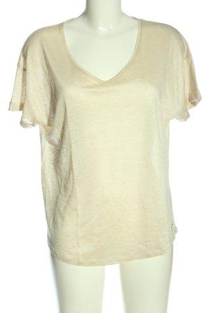 Esprit Koszulka z dekoltem w kształcie litery V kremowy W stylu casual