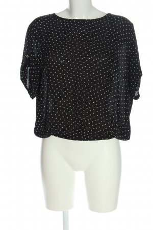 Esprit Blusa de manga corta negro-blanco look casual