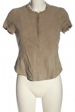 Esprit Leather Blouse natural white casual look