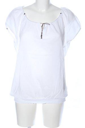 Esprit Kurzarm-Bluse weiß Casual-Look