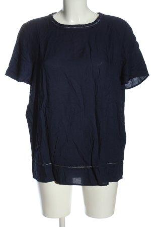 Esprit Kurzarm-Bluse blau meliert Casual-Look
