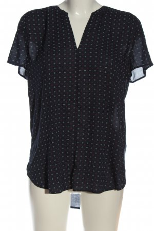 Esprit Kurzarm-Bluse abstraktes Muster Casual-Look