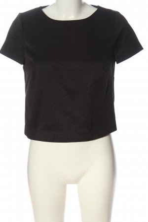Esprit Kurzarm-Bluse schwarz Casual-Look