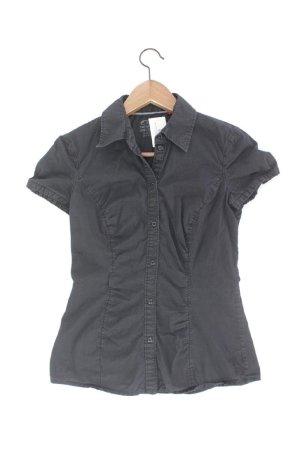 Esprit Kurzarmbluse Größe 32 schwarz aus Baumwolle