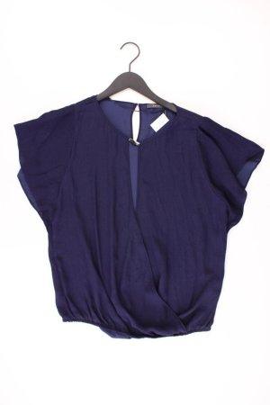 Esprit Kurzarmbluse Größe 38 blau aus Polyester