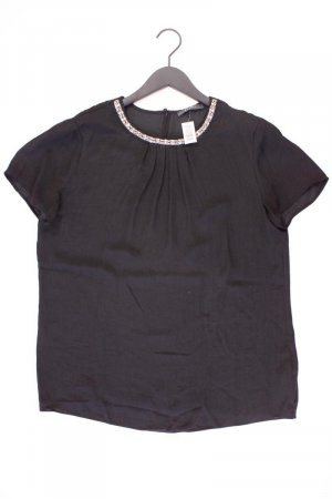 Esprit Kurzarmbluse Größe 42 schwarz aus Polyester