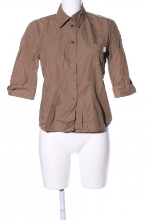 Esprit Camisa de manga corta marrón estilo «business»