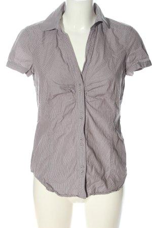 Esprit Kurzarmhemd pink-weiß Allover-Druck Casual-Look