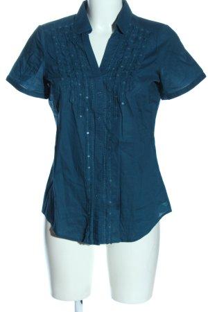 Esprit Kurzarmhemd blau Casual-Look