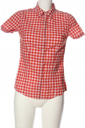 Esprit Kurzarmhemd weiß-rot Allover-Druck Casual-Look