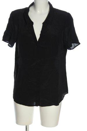 Esprit Shirt met korte mouwen zwart zakelijke stijl
