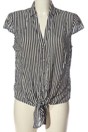 Esprit Kurzarmhemd schwarz-weiß Streifenmuster Casual-Look