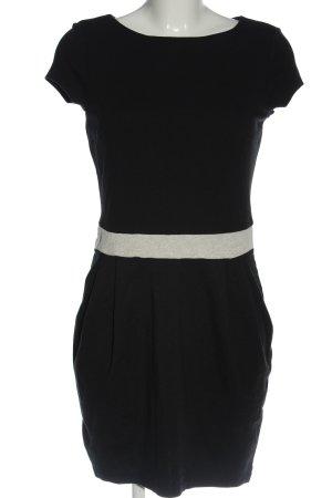 Esprit Kurzarmkleid schwarz-hellgrau Elegant