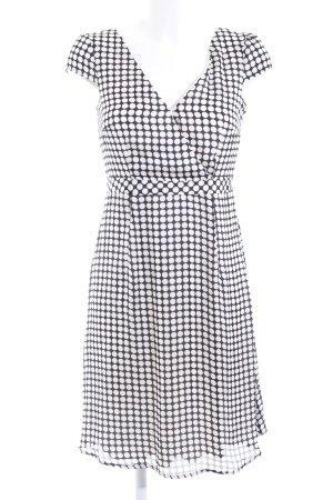 Esprit Kurzarmkleid schwarz-weiß Allover-Druck Elegant