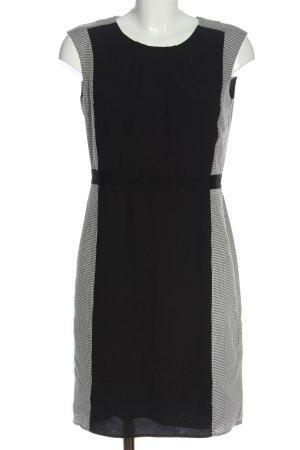 Esprit Kurzarmkleid schwarz-weiß abstraktes Muster Casual-Look