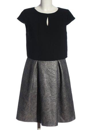 Esprit Kurzarmkleid schwarz-silberfarben Business-Look