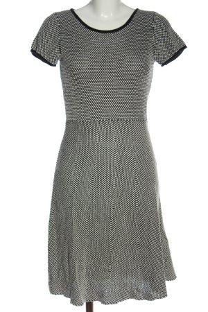 Esprit Robe à manches courtes blanc-noir imprimé allover style décontracté