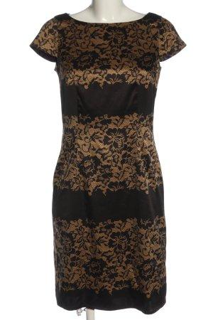 Esprit Kurzarmkleid braun-creme grafisches Muster Casual-Look
