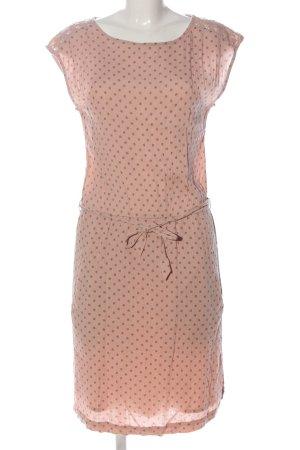 Esprit Kurzarmkleid pink-schwarz grafisches Muster Casual-Look