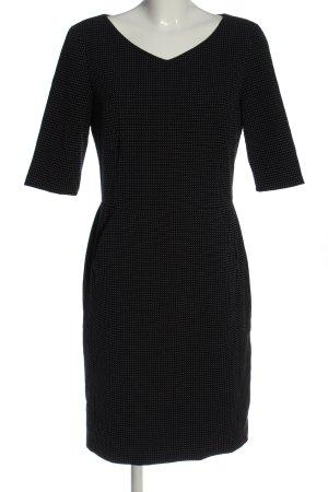 Esprit Kurzarmkleid schwarz-weiß Allover-Druck Casual-Look