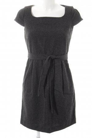 Esprit Kurzarmkleid grau-schwarz Casual-Look
