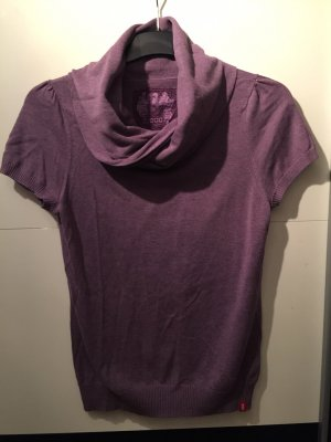 Esprit Short Sleeve Sweater grey lilac-mauve