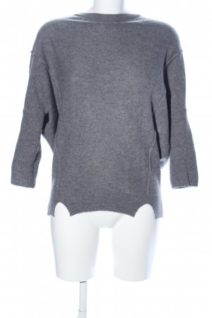 Esprit Maglione a maniche corte grigio chiaro puntinato stile casual