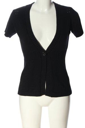 Esprit Short Sleeve Knitted Jacket black casual look